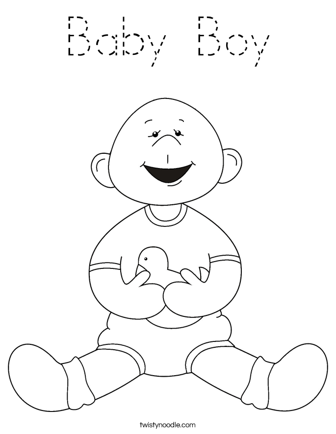 boy coloring template baby boy coloring page tracing twisty noodle boy coloring template