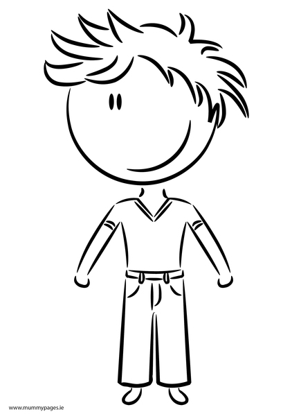 boy coloring template boy in casual clothes colouring page mummypages template boy coloring