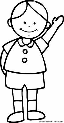 boy coloring template simple boys coloring pages boy template coloring