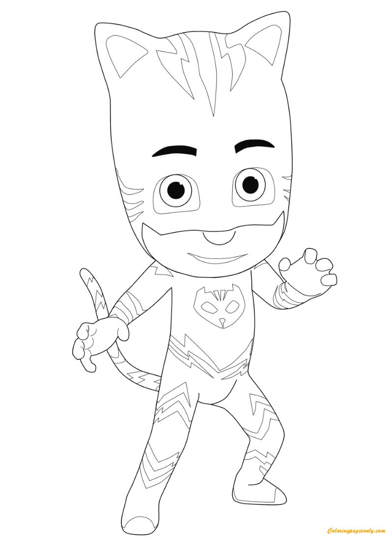 boy coloring template the amazing catboy from pj masks coloring page free boy template coloring