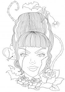 bride of frankenstein coloring pages pin by billy kernen on monsters bride of frankenstein frankenstein coloring pages of bride