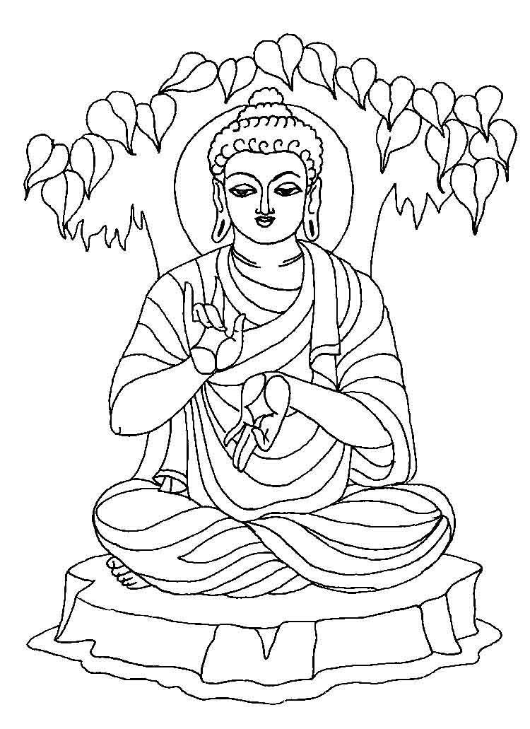 buddha coloring pages buddha drawing images at getdrawings free download pages buddha coloring