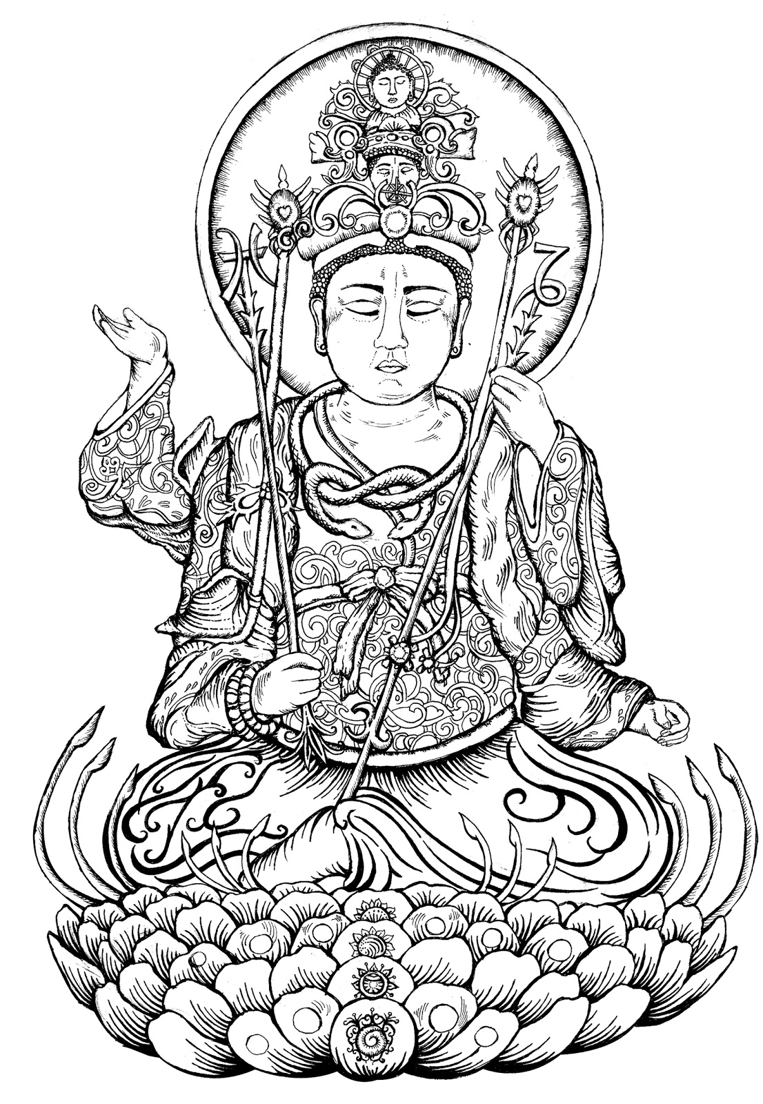 buddha coloring pages free coloring pages adults green tara google search pages buddha coloring