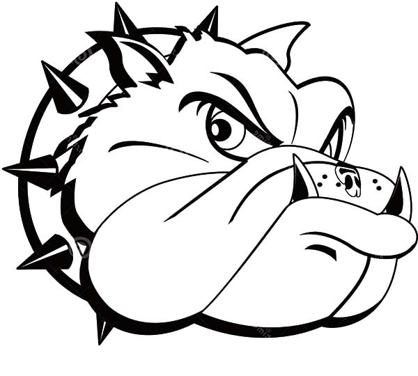 bulldog coloring page american bulldog coloring pages at getcoloringscom free coloring bulldog page
