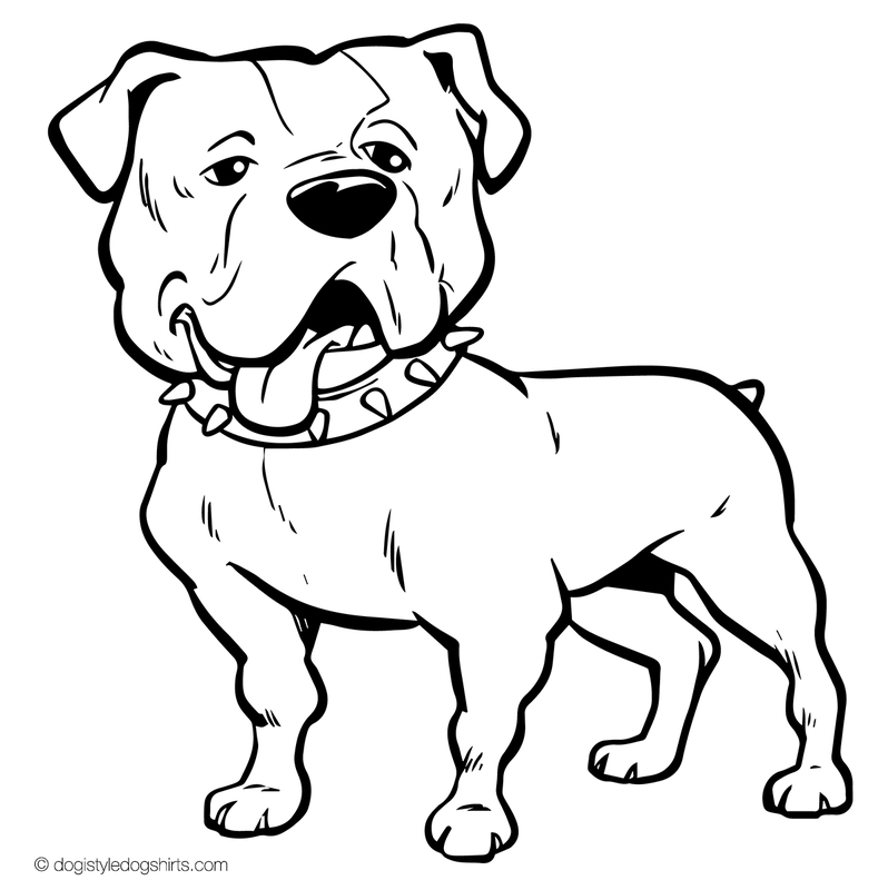 bulldog coloring page american bulldog coloring pages at getcoloringscom free page coloring bulldog
