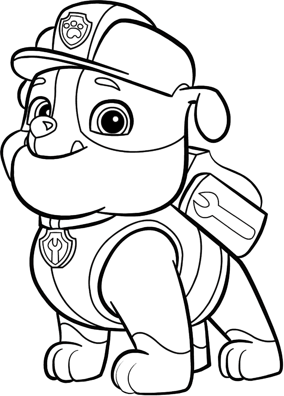 bulldog coloring page construction bulldog rubble coloring page free printable coloring bulldog page