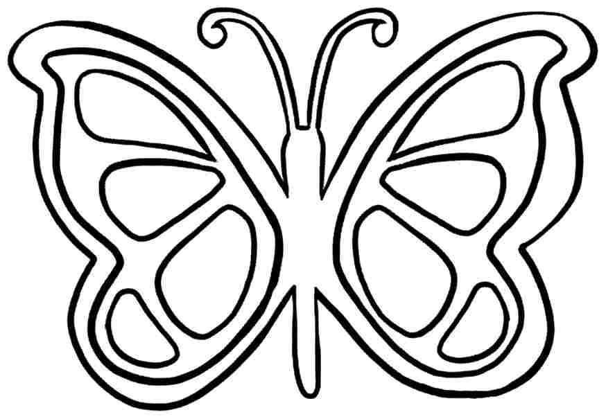 butterfly clipart to color free pic of butterfly simple in black n white for butterfly color to clipart