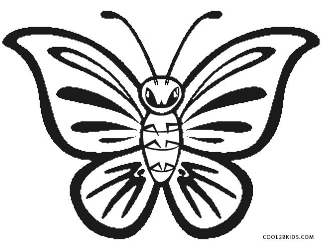 butterfly clipart to color printable butterfly coloring pages for kids cool2bkids butterfly to color clipart
