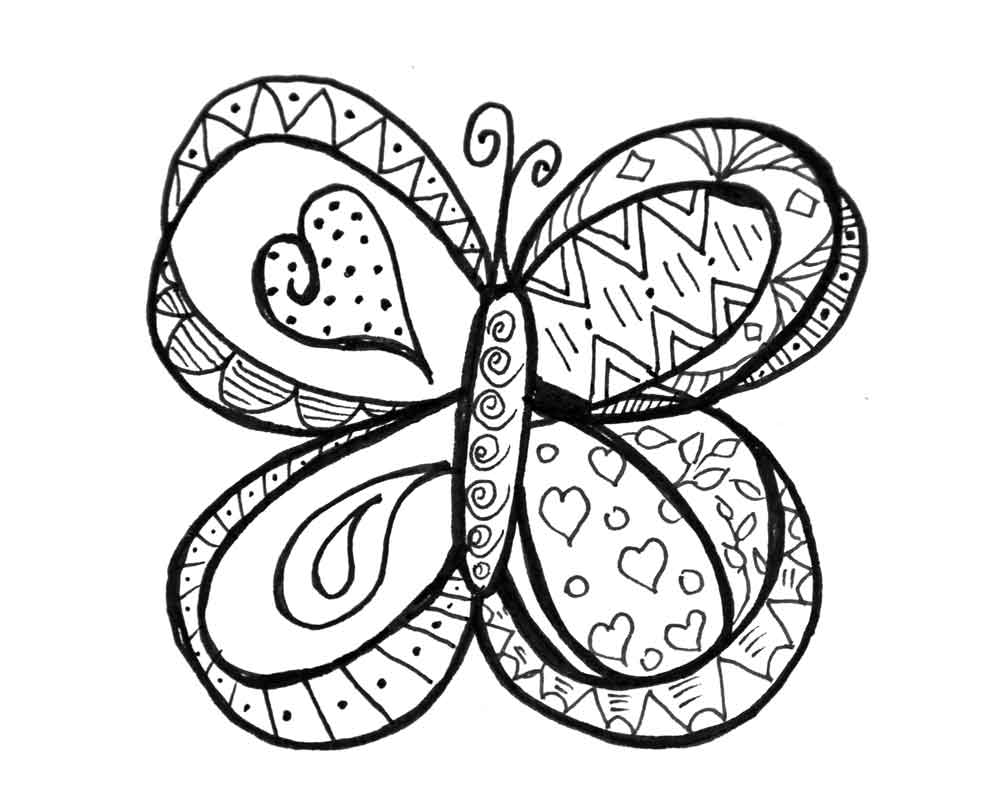 butterfly colouring pics printable fun butterfly coloring pages for kids colouring pics butterfly