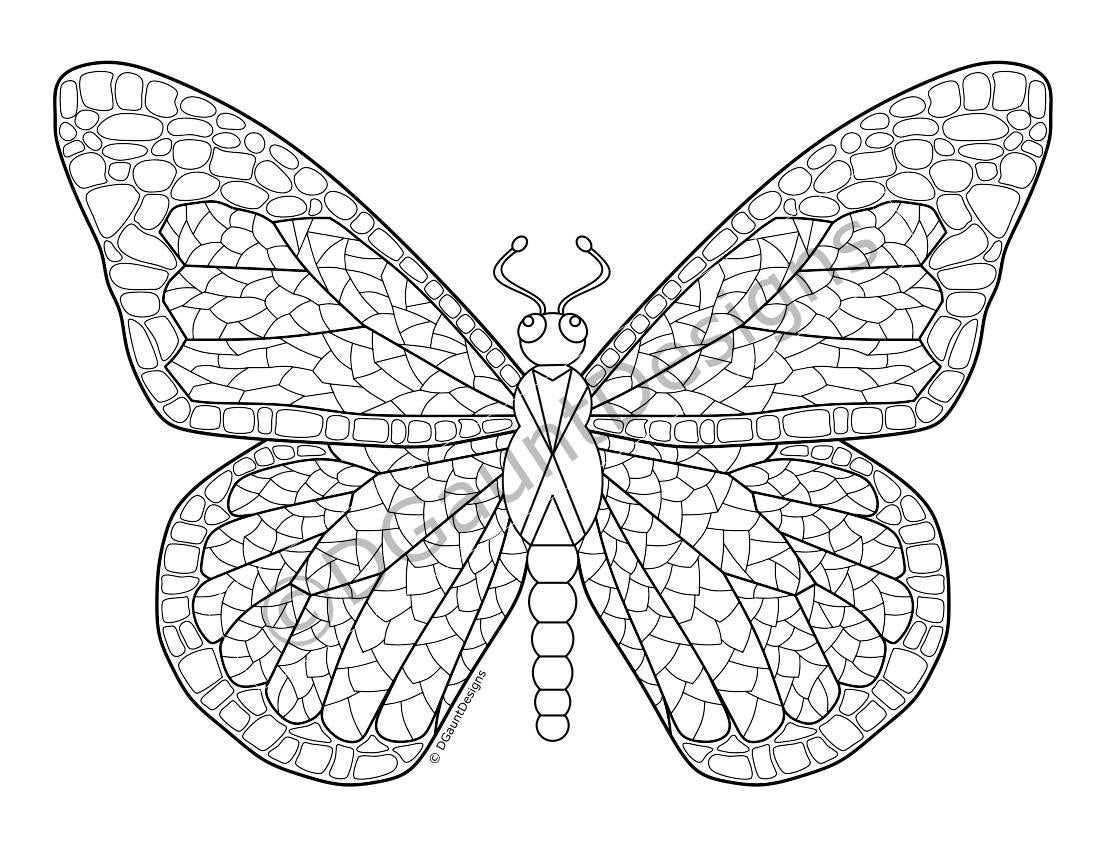 butterfly mosaic coloring page butterfly mosaic coloring page online page mosaic coloring butterfly