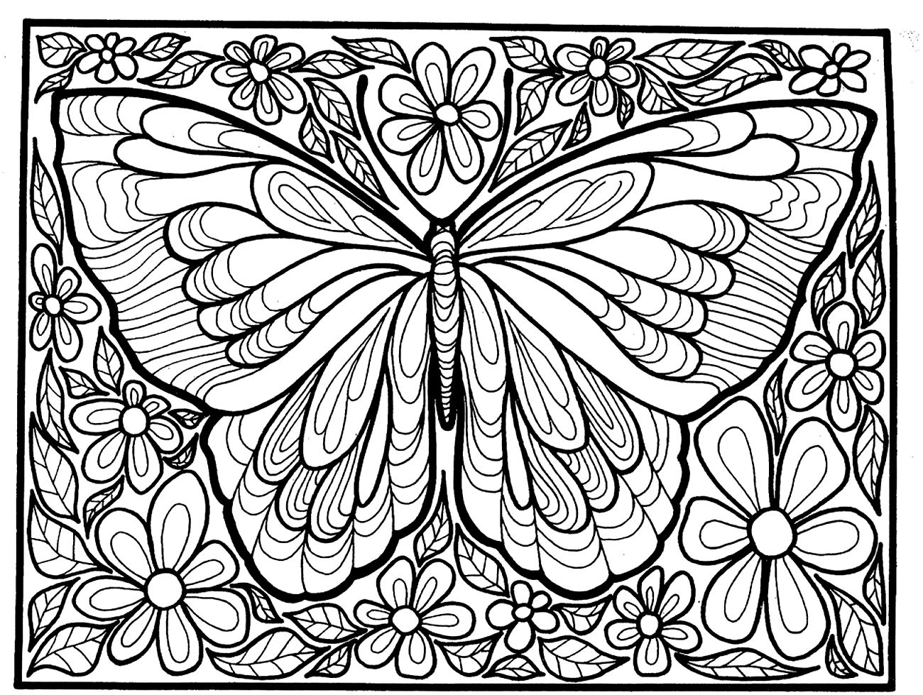 butterfly mosaic coloring page simple flower outline clipart clipground mosaic coloring butterfly page