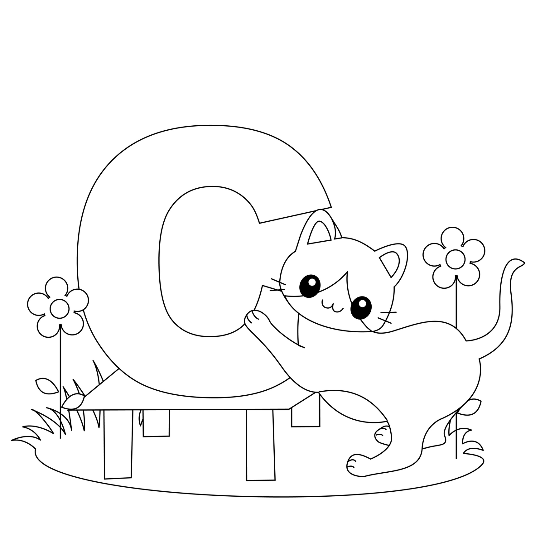 c for coloring page letter c is for cat coloring page free printable for c page coloring