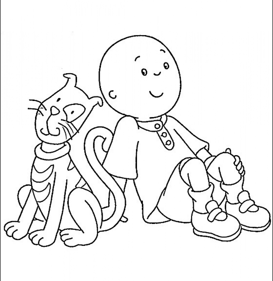 caillou coloring sheets craftsactvities and worksheets for preschooltoddler and sheets coloring caillou