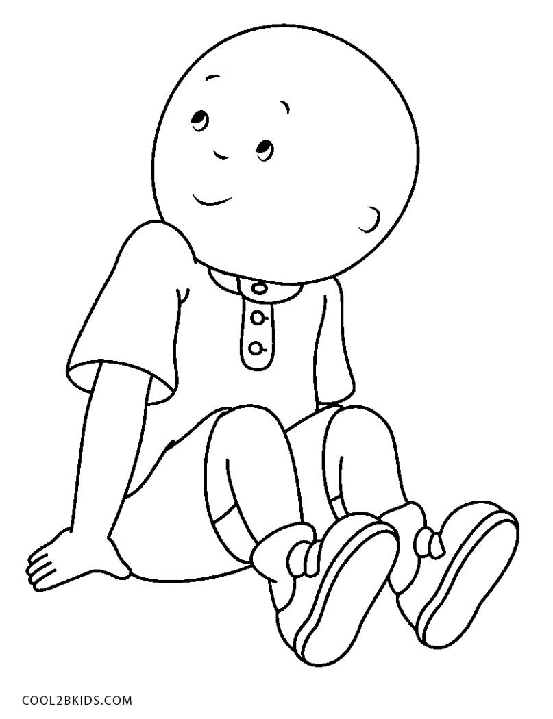 caillou coloring sheets free printable caillou coloring pages for kids cool2bkids sheets coloring caillou