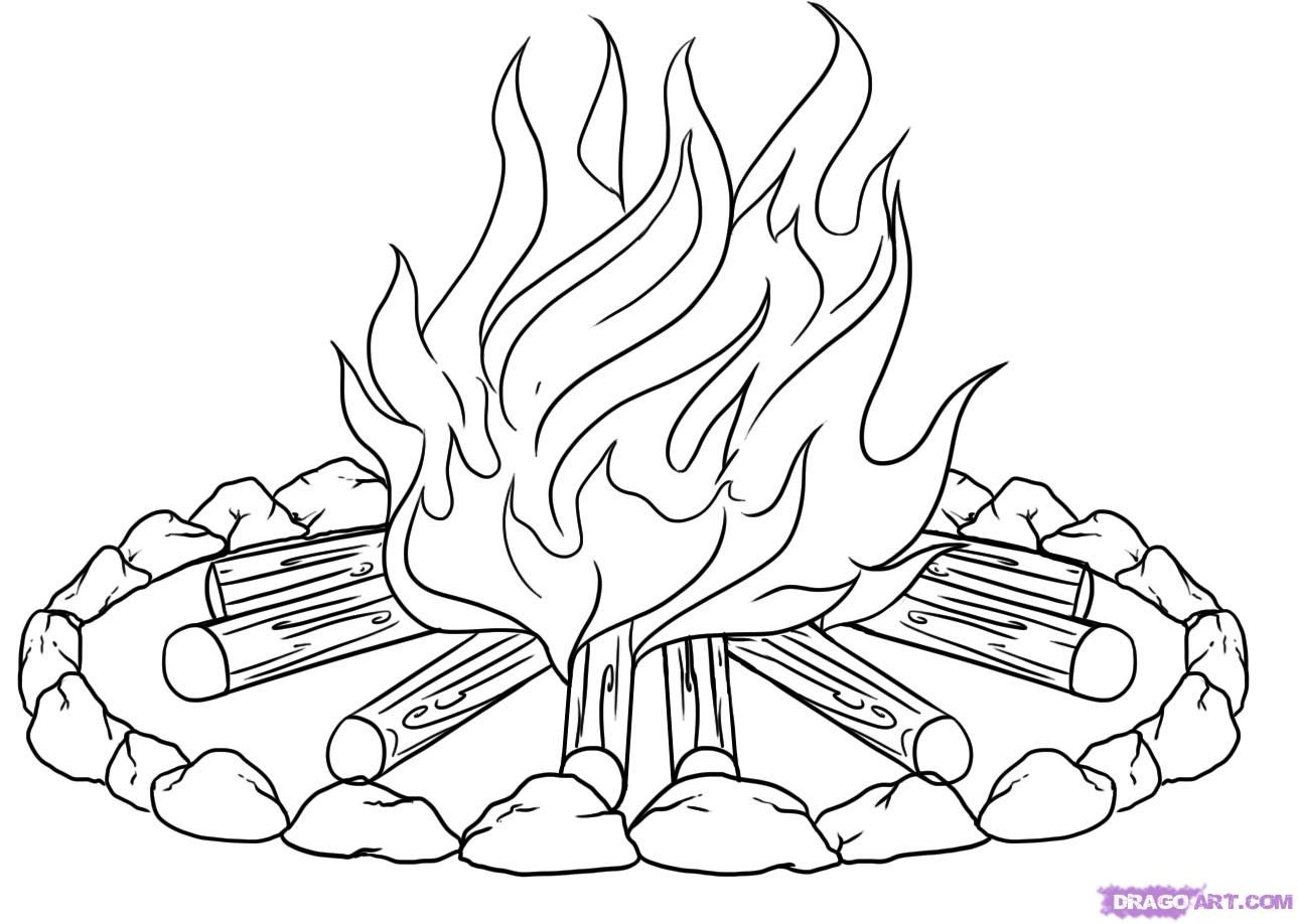 campfire coloring page camp fire 2 coloring page wecoloringpage coloring home campfire page coloring
