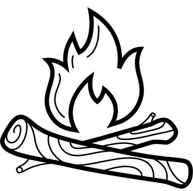 campfire coloring page campfire pictures to color how to draw a campfire step 6 campfire coloring page