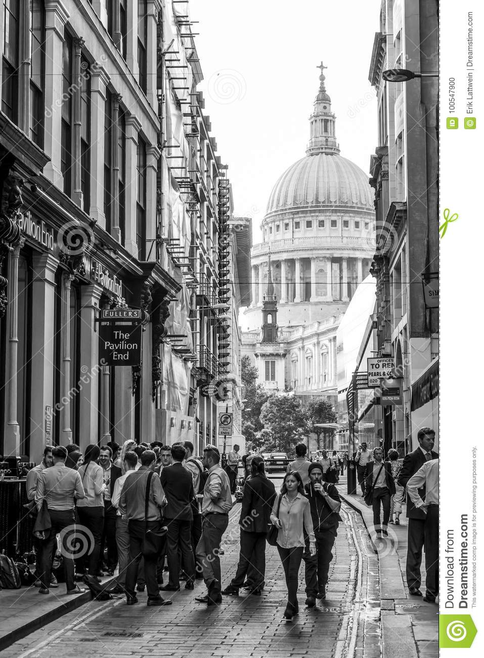 capital of great britain narrow lane at st pauls cathedral in london london great of capital britain