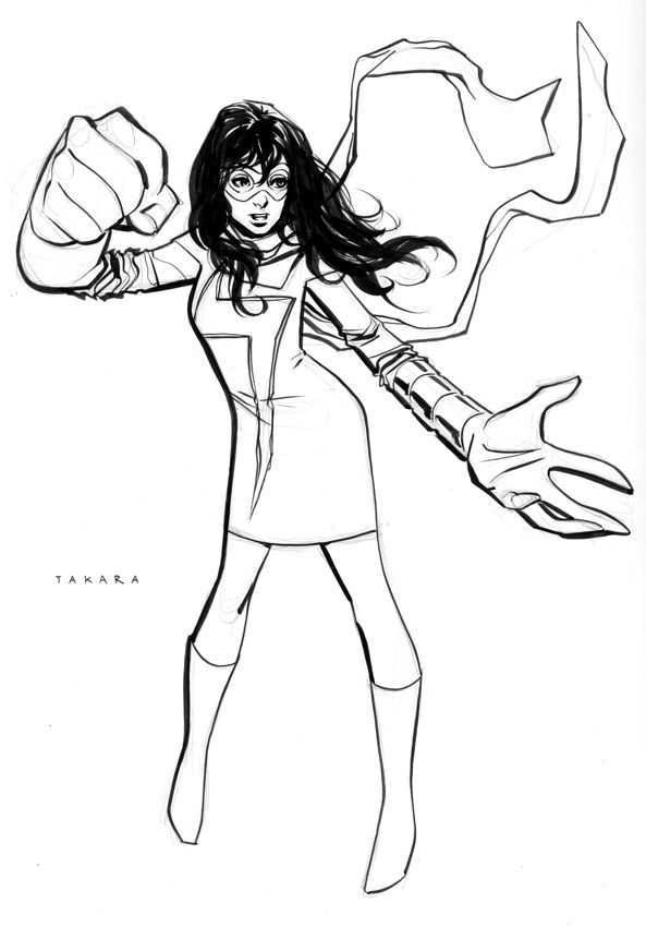 captain marvel coloring pages specialeditionnyc sketch msmarvel by marciotakara on pages captain coloring marvel