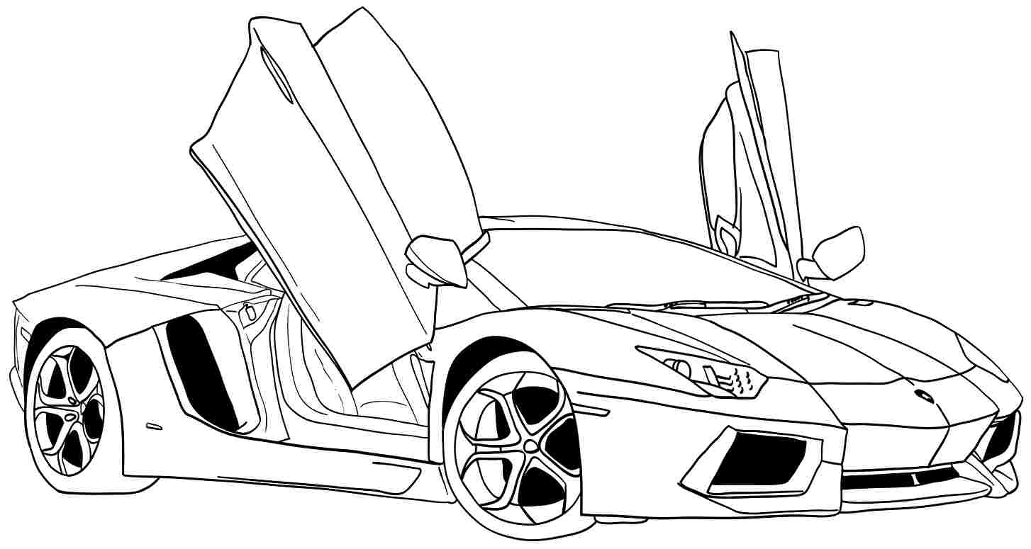 car pictures to colour in free printable lamborghini coloring pages for kids to pictures car colour in