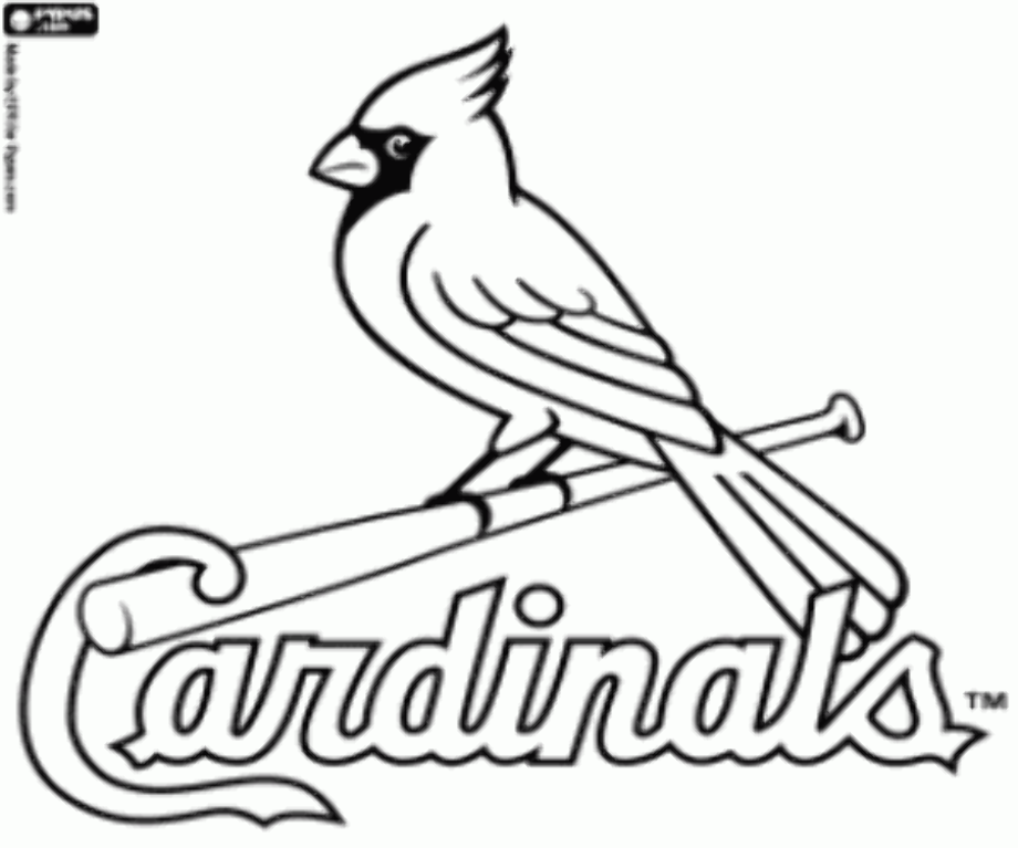 cardinals baseball coloring pages download high quality st louis cardinals logo printable coloring pages cardinals baseball