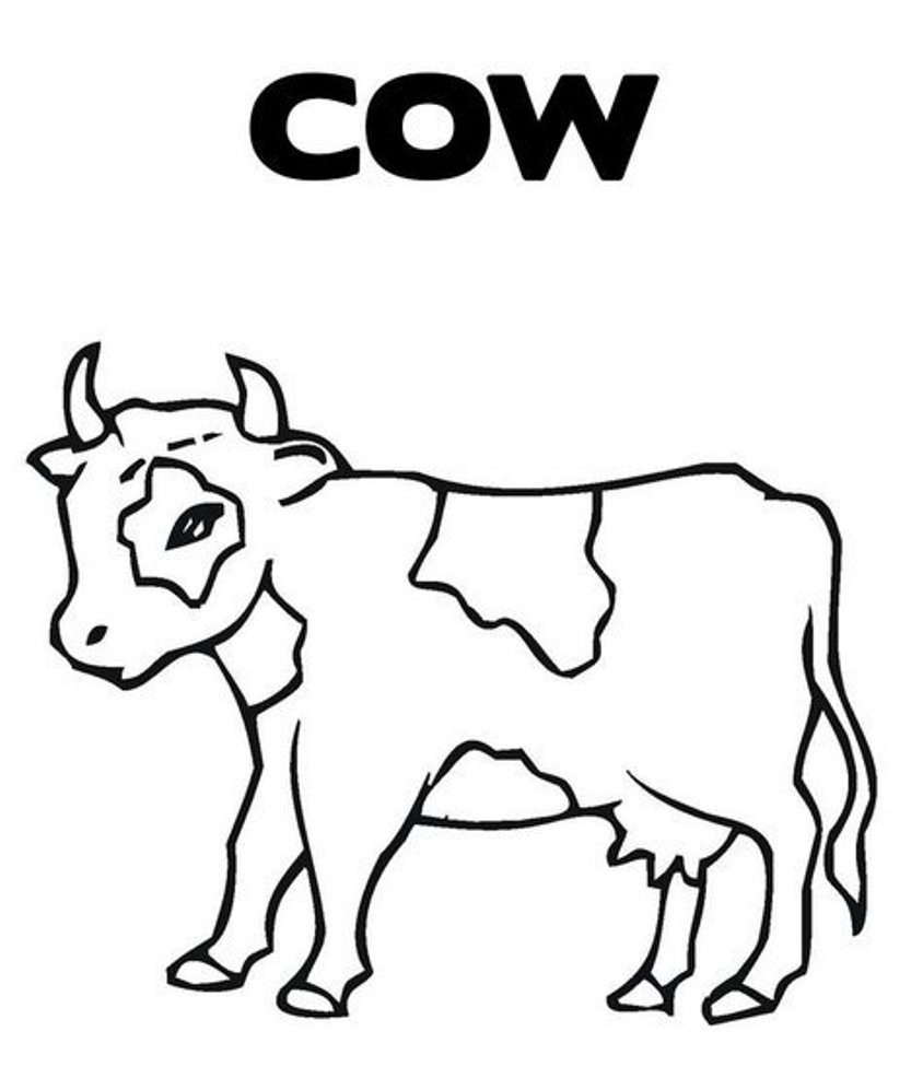 cartoon cow coloring pages free cow coloring pages printable pages coloring cow cartoon