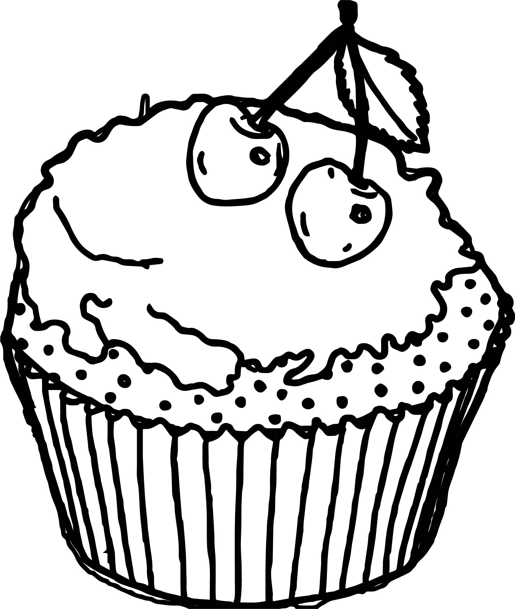 cartoon cupcake coloring pages cupcake drawing outline at getdrawings free download cartoon coloring cupcake pages