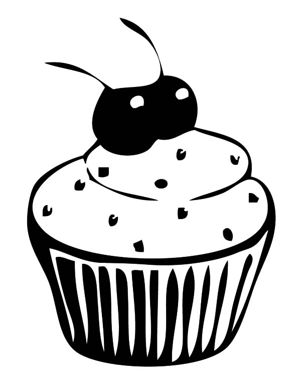 cartoon cupcake coloring pages cupcakes with two cherries coloring pages netart cupcake coloring cartoon pages