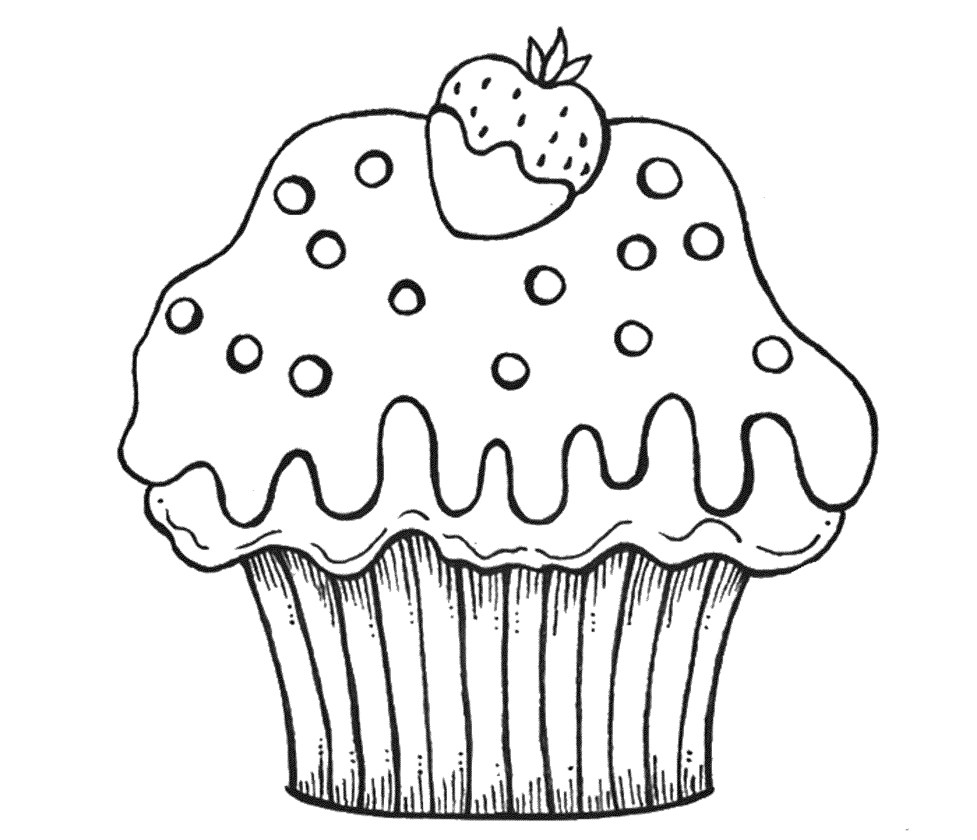 cartoon cupcake coloring pages hello kitty cupcake coloring pages at getcoloringscom cartoon coloring cupcake pages