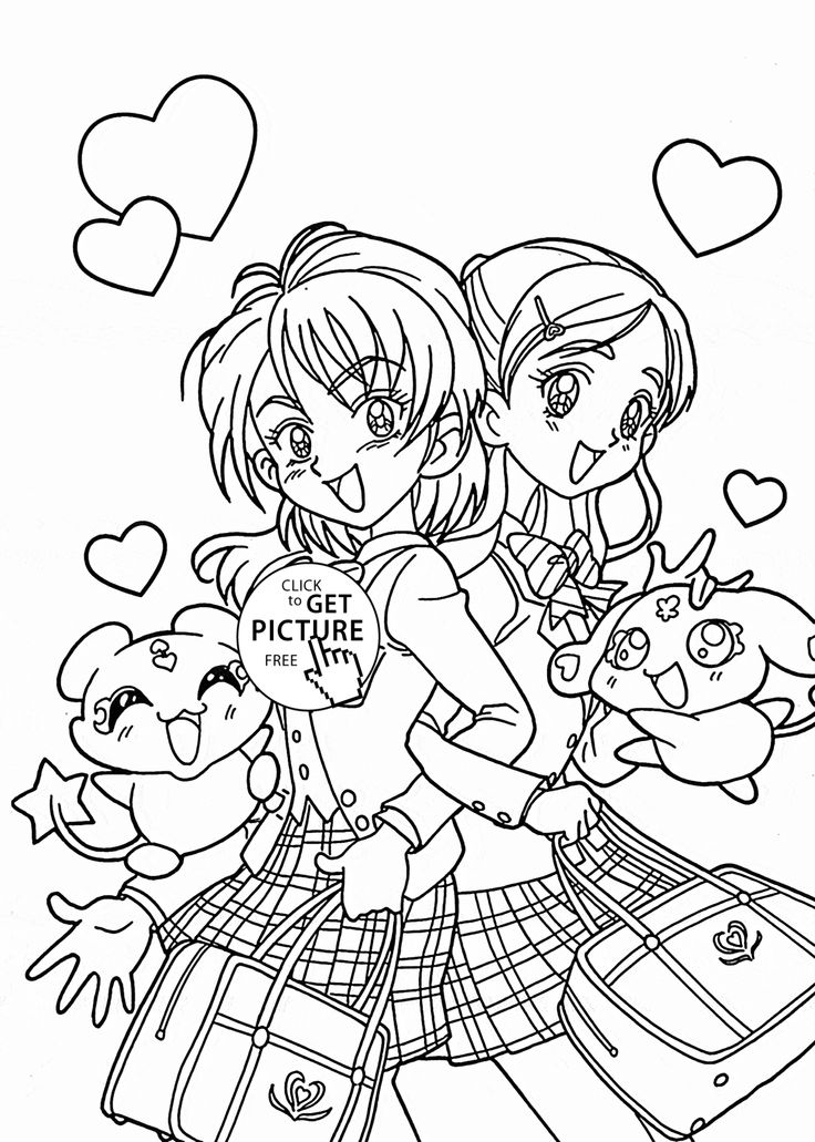 cartoon girls coloring pages 21 best images about animemanga coloring pages on girls coloring pages cartoon