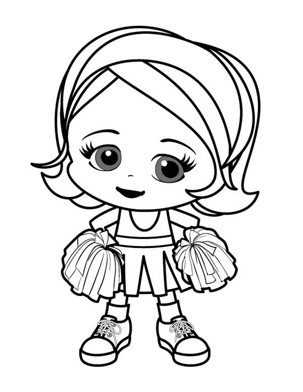cartoon girls coloring pages cheerleader drawing free download on clipartmag coloring girls pages cartoon