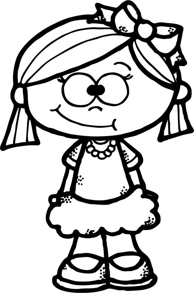 cartoon girls coloring pages cute girl clipart black and whitw 20 free cliparts girls cartoon pages coloring