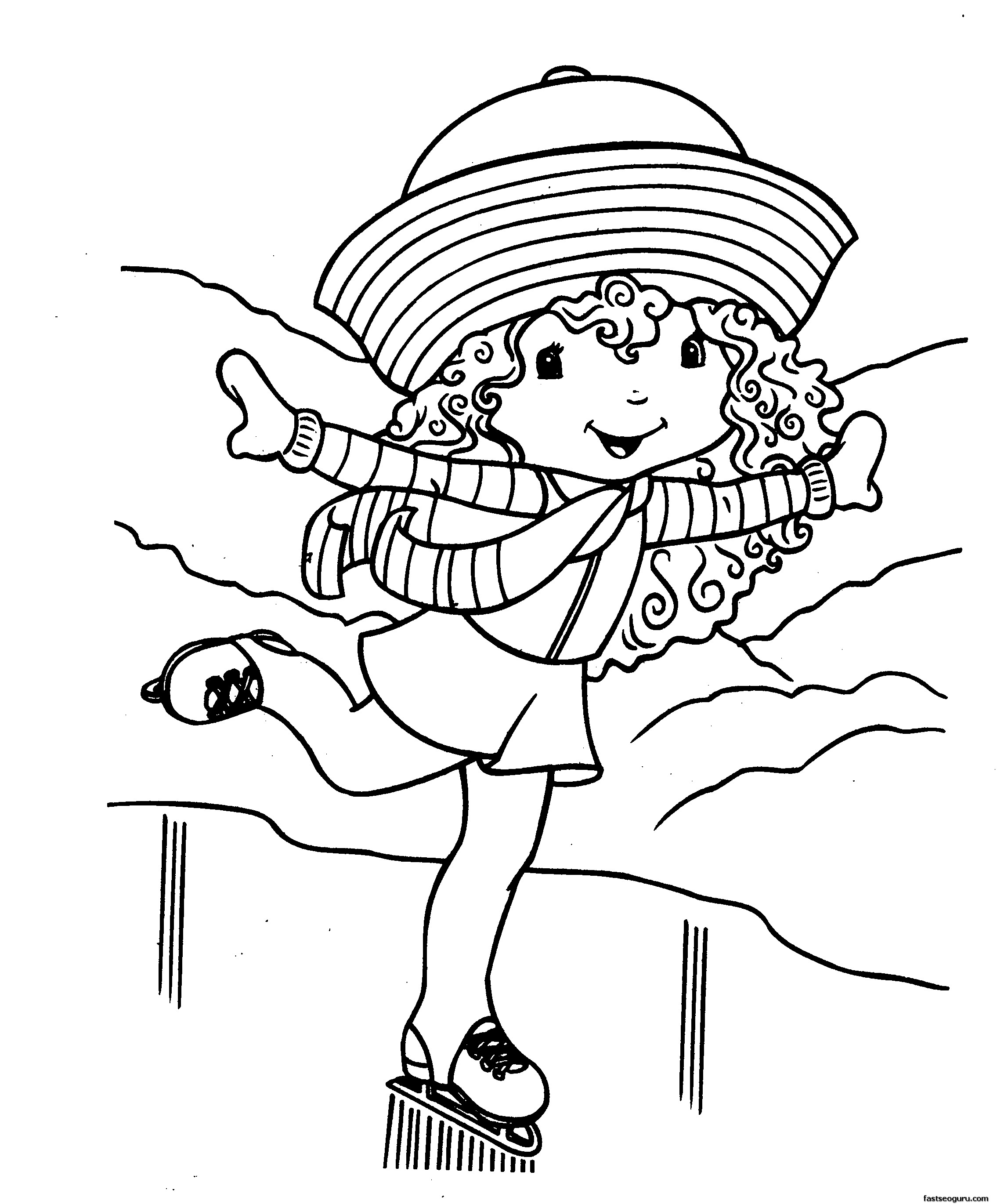 cartoon girls coloring pages printable cartoon strawberry shortcake on skating coloring pages coloring girls cartoon