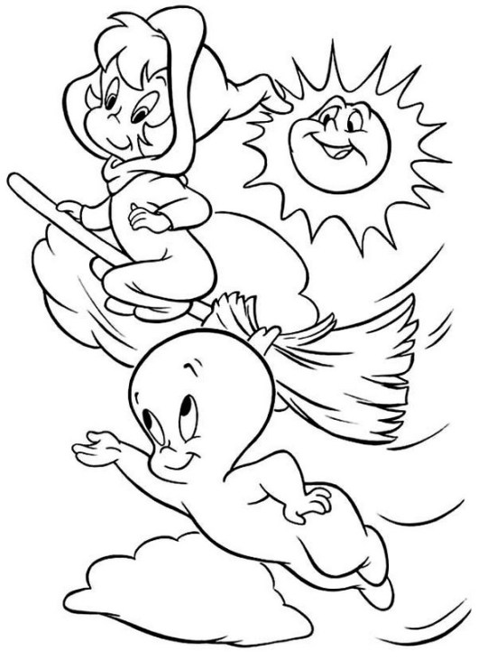 casper the ghost coloring pages casper ghost s for kids with cat42d9 coloring pages printable casper coloring ghost pages the