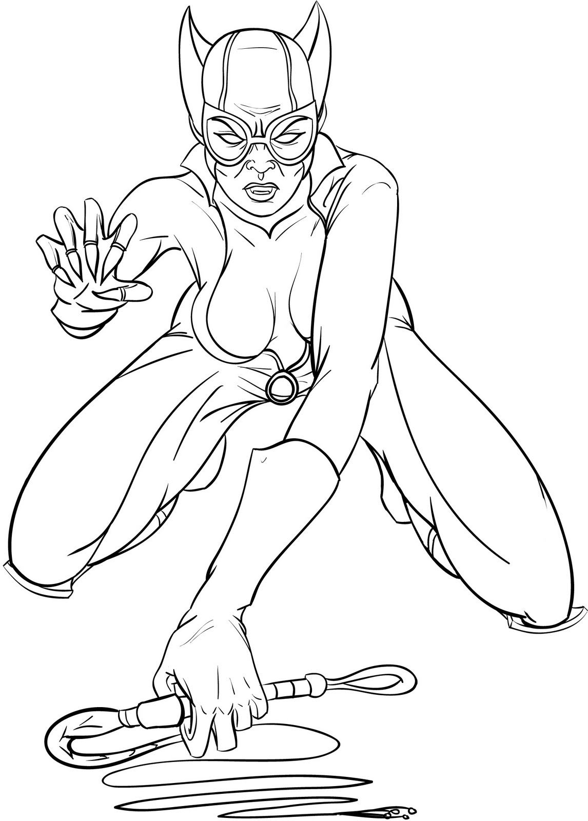 Catwoman printable coloring pages