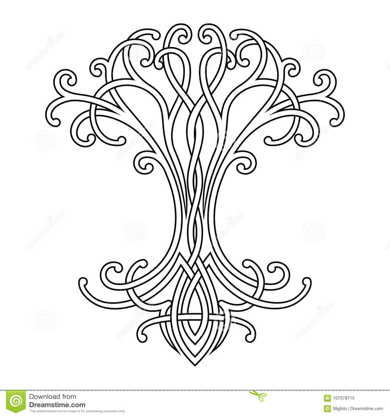 celtic drawings celtic tree of life stock vector illustration of nature celtic drawings