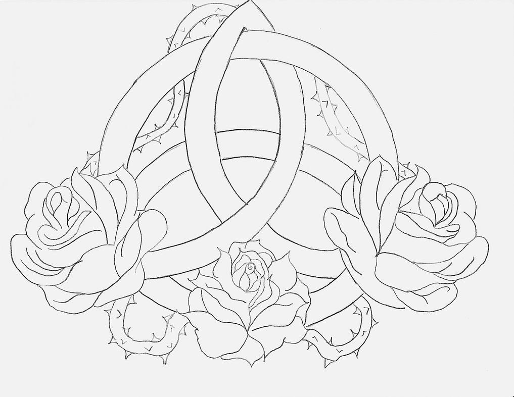 celtic drawings celtic triquetra rose by angelmae423 on deviantart drawings celtic