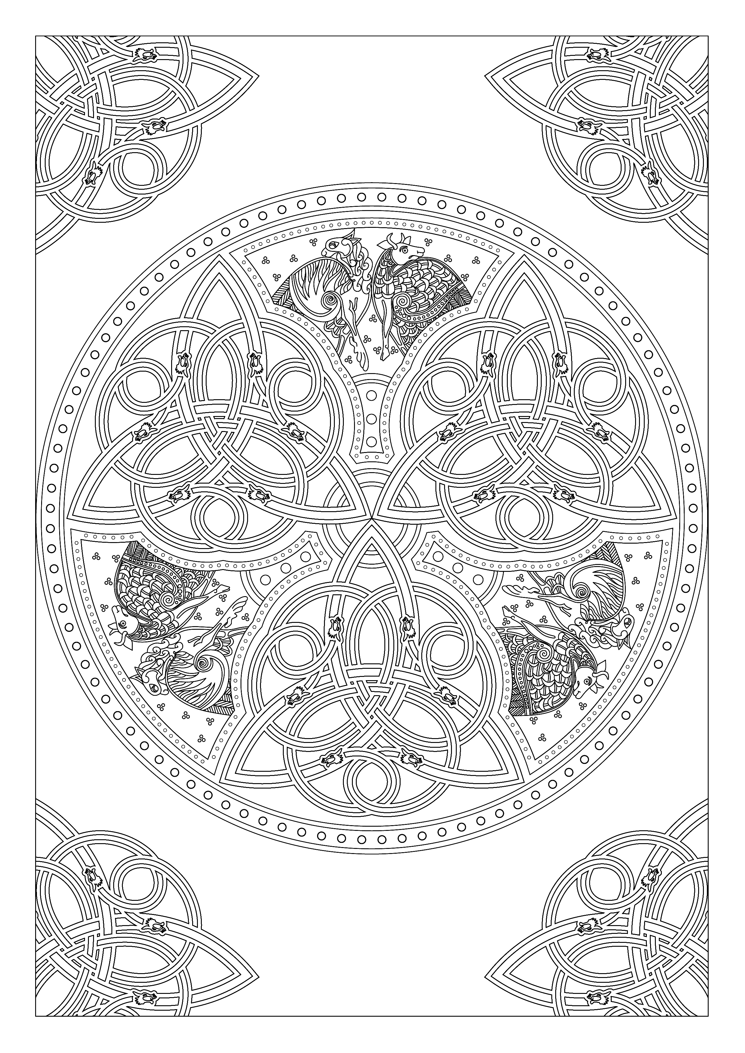celtic drawings draw any animal you like in celtic knot work style by celtic drawings