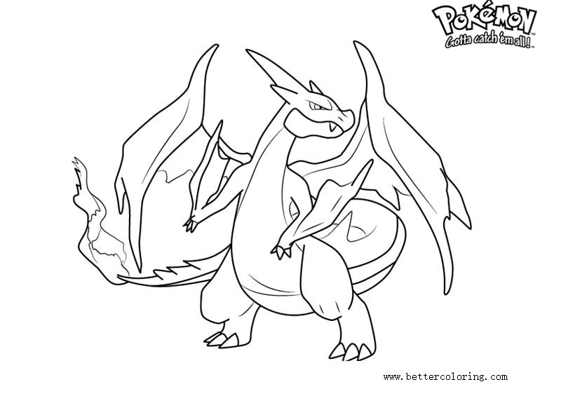 charizard y coloring page pokemon coloring pages charizard printable free coloring y charizard coloring page