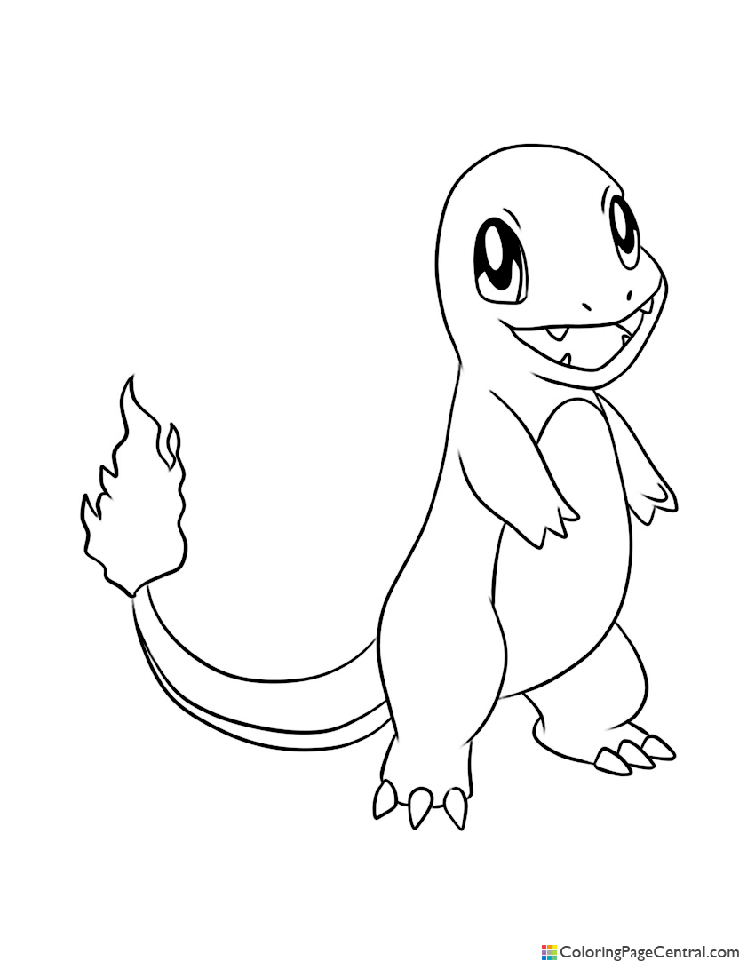 charmander colouring pages charmander coloring page at getcoloringscom free charmander pages colouring