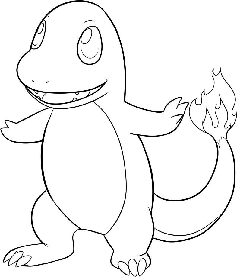 charmander colouring pages charmander pokemon coloring pages at getdrawings free charmander colouring pages