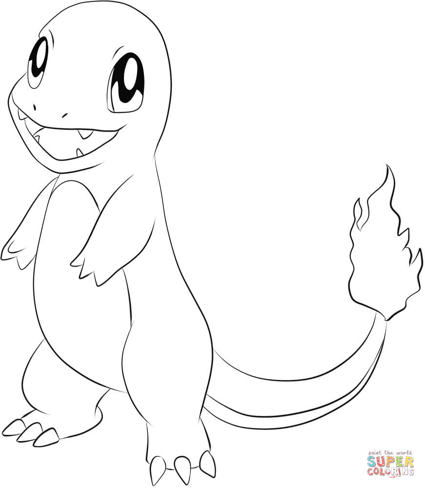 charmander colouring pages charmander printable coloring pages at getdrawings free charmander colouring pages