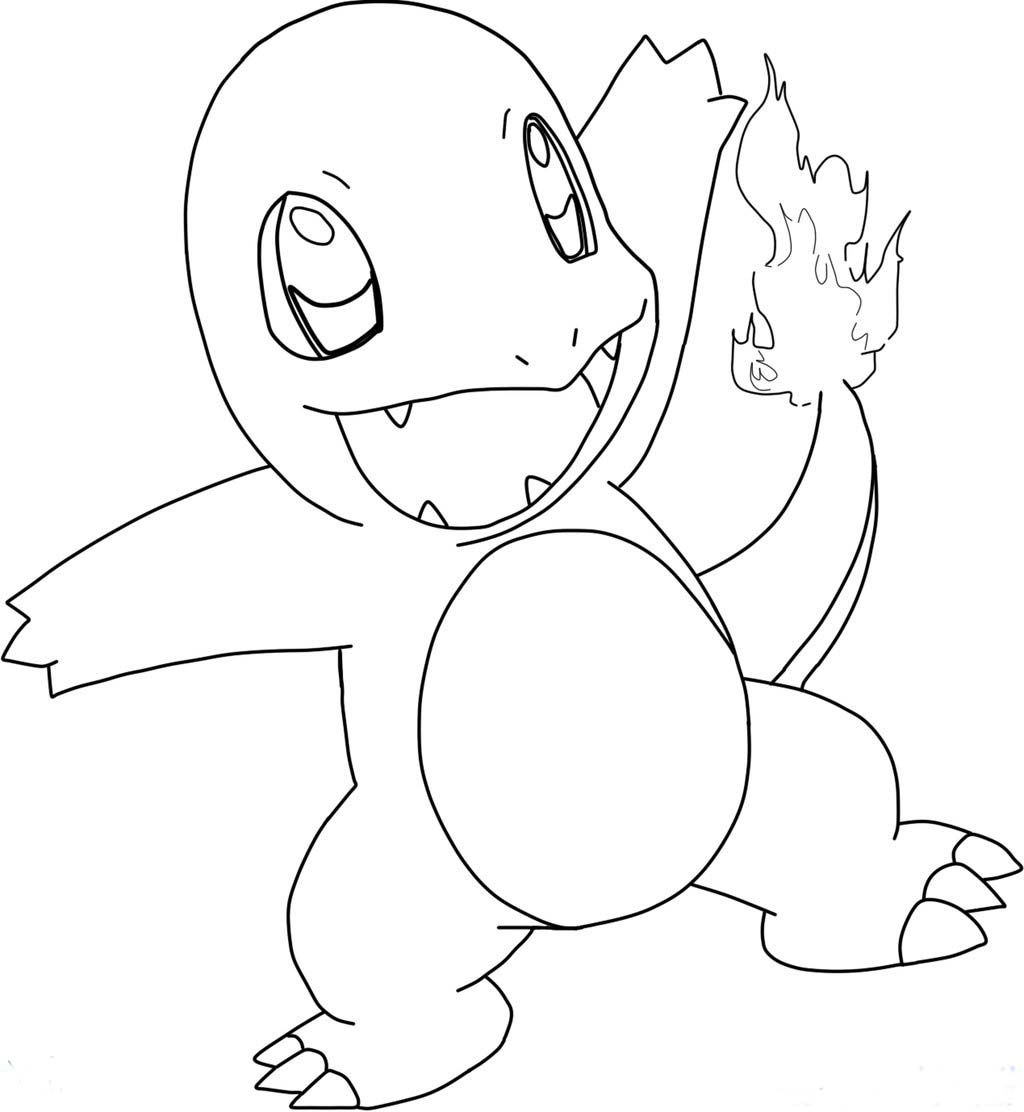 charmander colouring pages pokemon charmander 02 coloring page coloring page central colouring charmander pages