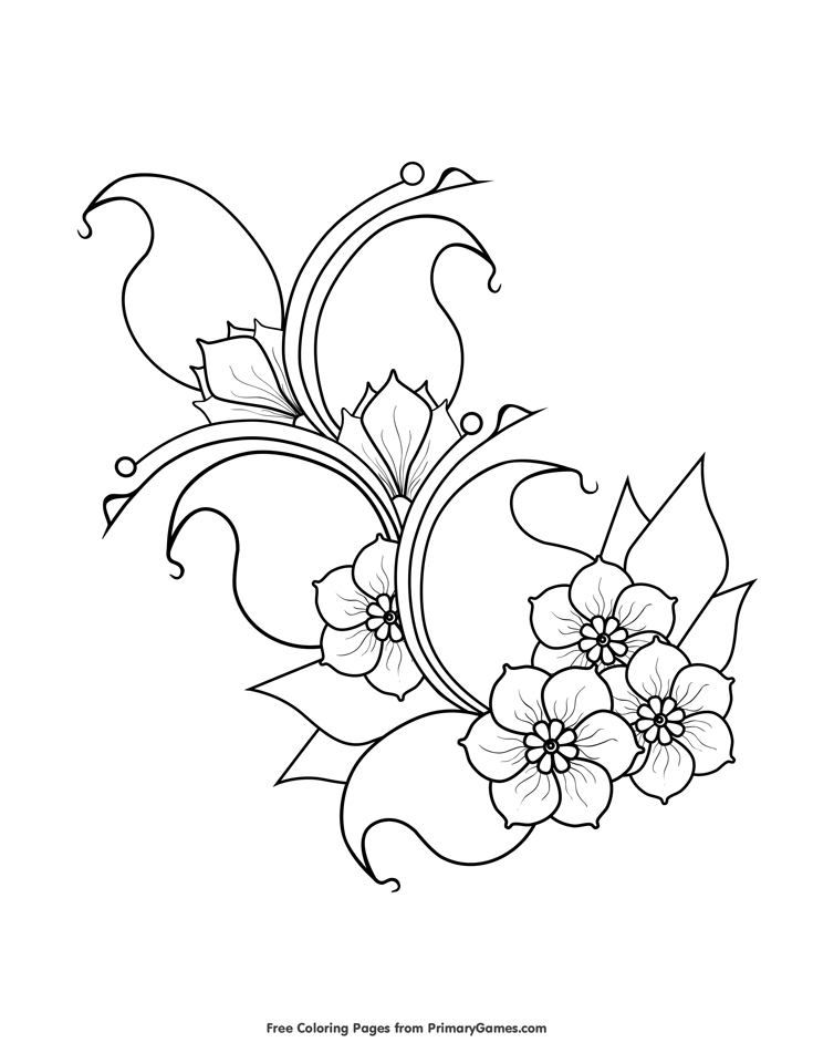 cherry blossom coloring pages cherry blossom coloring page coloring home blossom cherry pages coloring