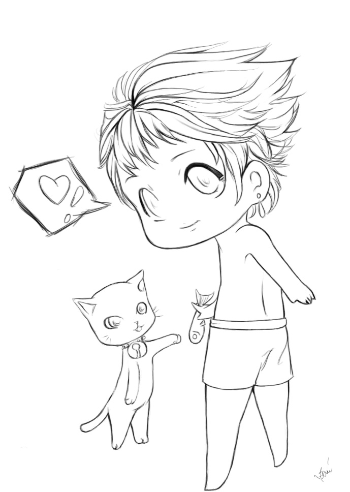 chibi boy coloring pages chibi boys line art by nightmaresky on deviantart chibi boy coloring pages