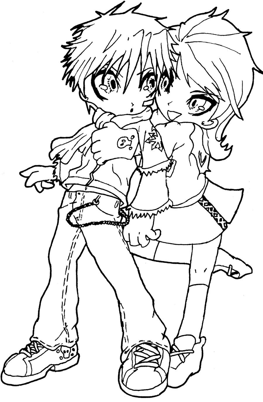 chibi couple coloring pages chibi couple by ed sama on deviantart coloring chibi pages couple