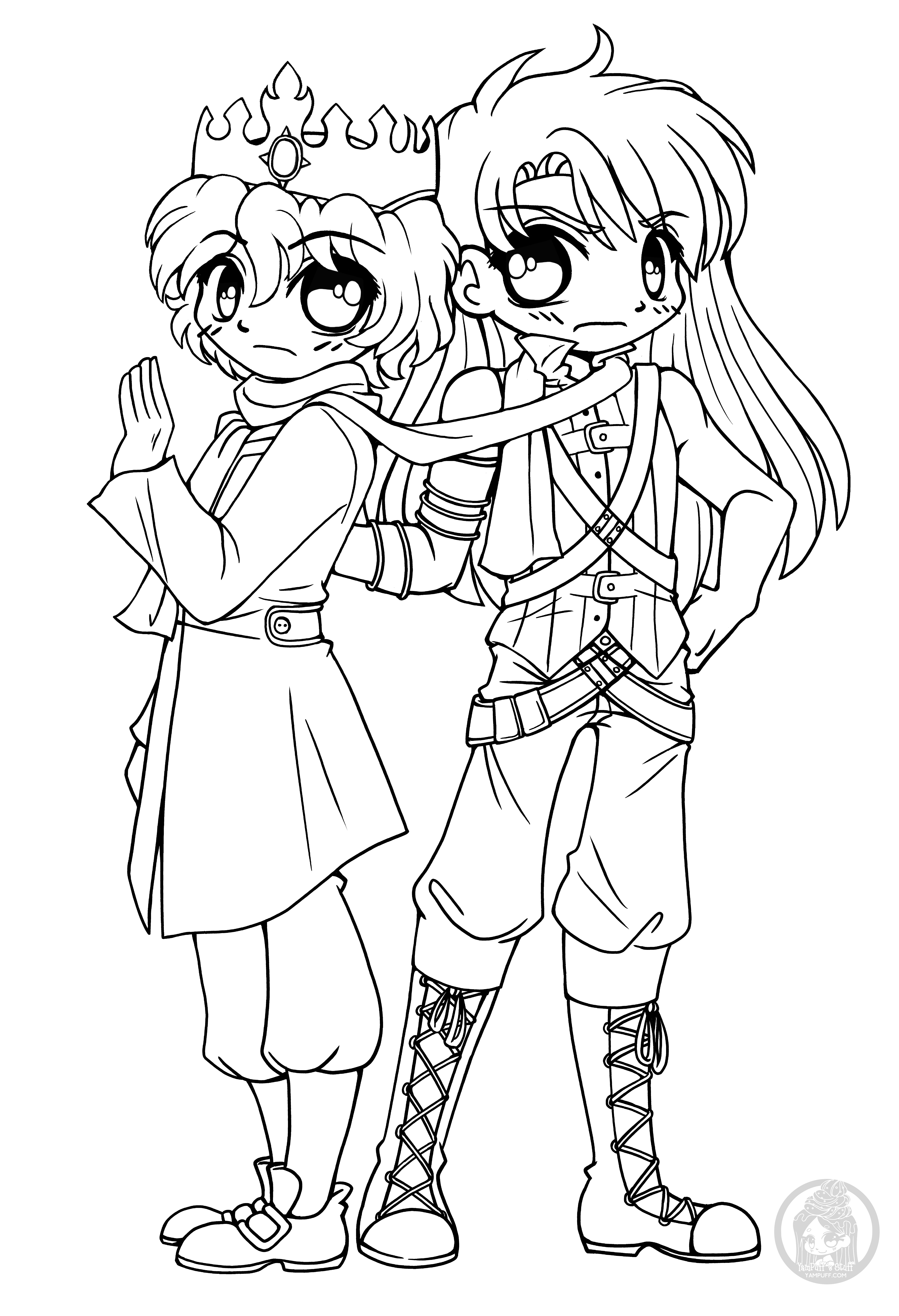 chibi couple coloring pages couple preliminary lineart by twistedpancreas on deviantart coloring couple pages chibi