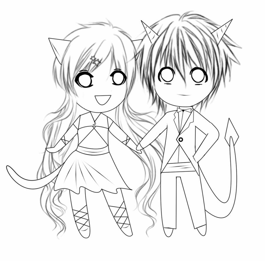 chibi couple coloring pages easy chibi couple coloring pages coloring pages chibi couple