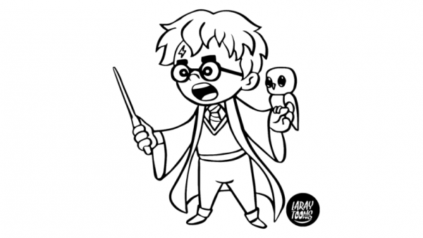 chibi harry potter coloring pages harry potter colorear chibi coloring harry potter pages