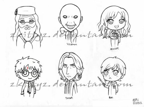 chibi harry potter coloring pages zkittyz39s deviantart gallery coloring potter harry pages chibi