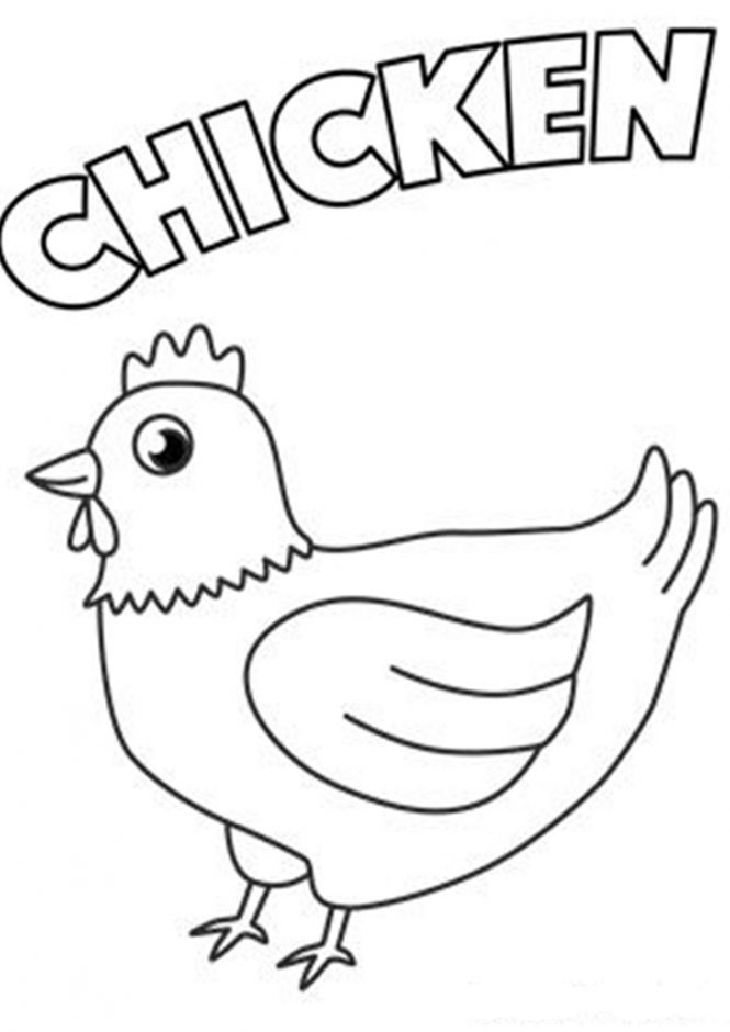 chicken coloring pages chicken nugget coloring page at getcoloringscom free chicken coloring pages